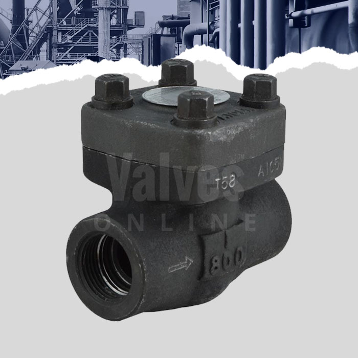 Forged Steel Piston Check Valve Class 800