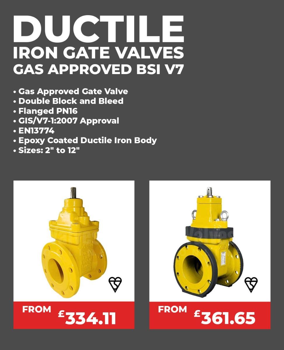 Ductile Iron Gate Valve Gas Approved BSI V7