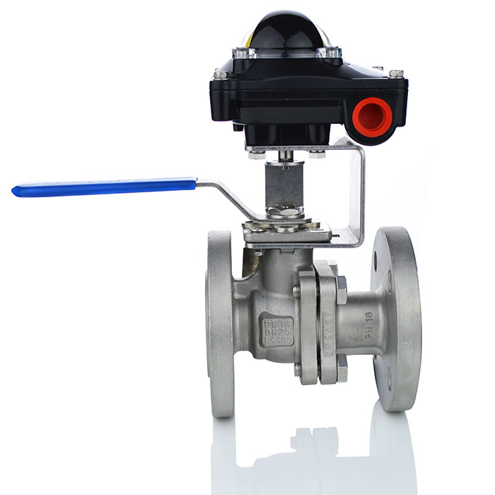 Flanged ANSI 150/ PN16 Manual Ball Valve with Limit Switchbox