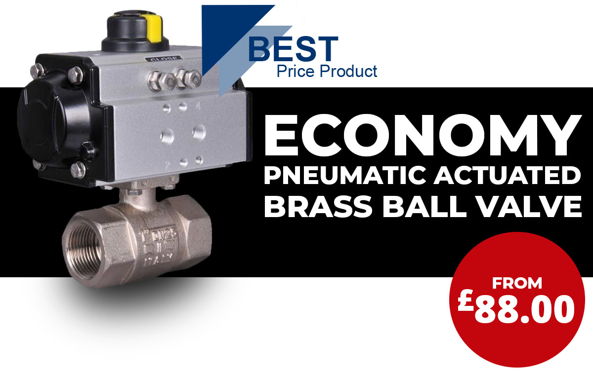 Economy pneumatic actuated brass ball valves