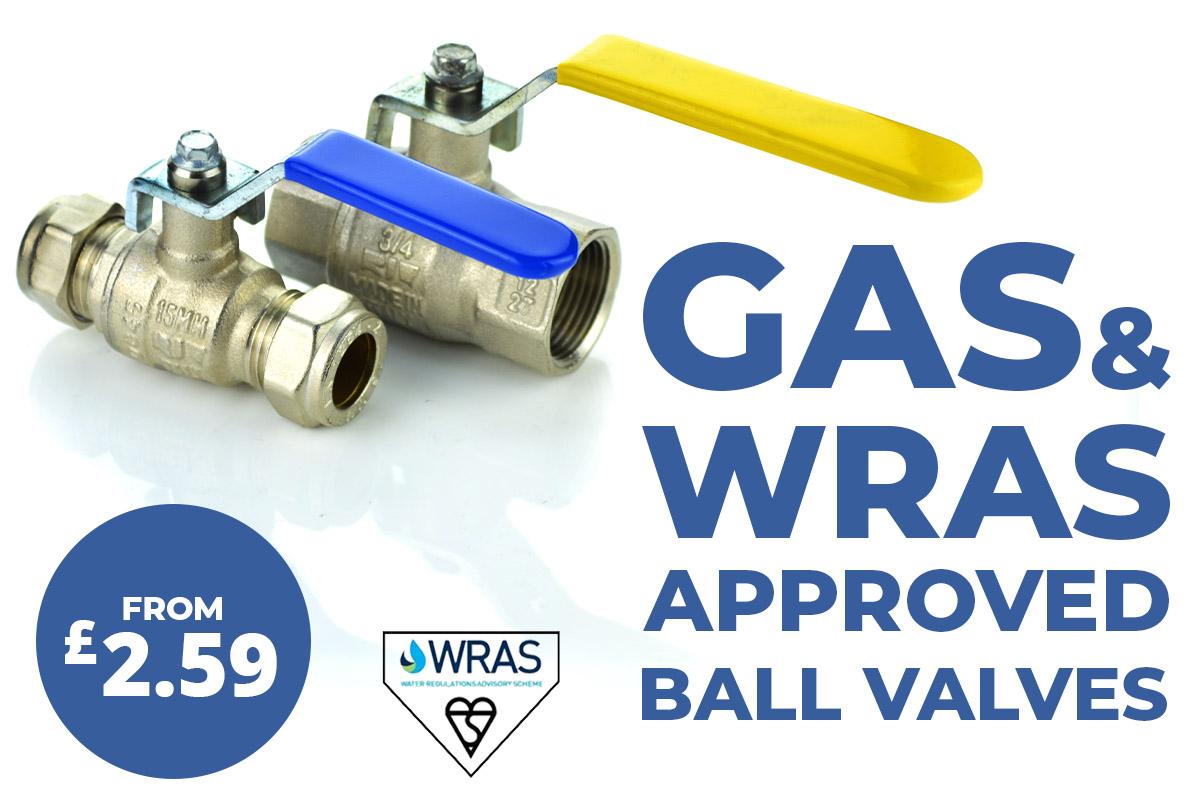 gas and WRAS brass valves