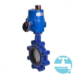 Electric Operated Lugged WRAS Butterfly Valve