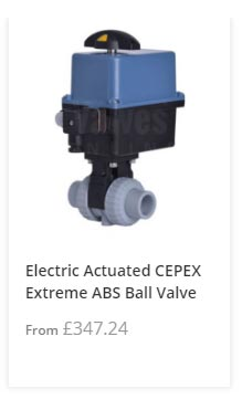 Electric Actuated ABS Ball Valve